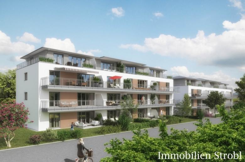 4-Zimmer-Neubau-Wohnung in Eggelsberg mit Balkon.
