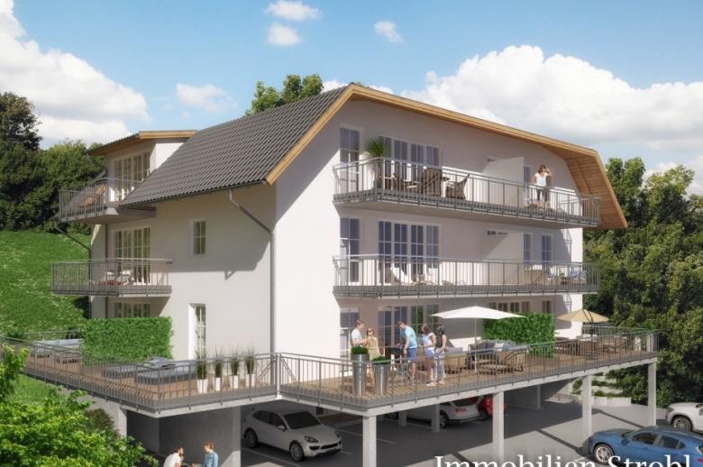 Neubau Wohnungen barrierefrei in Henndorf am Wallersee.